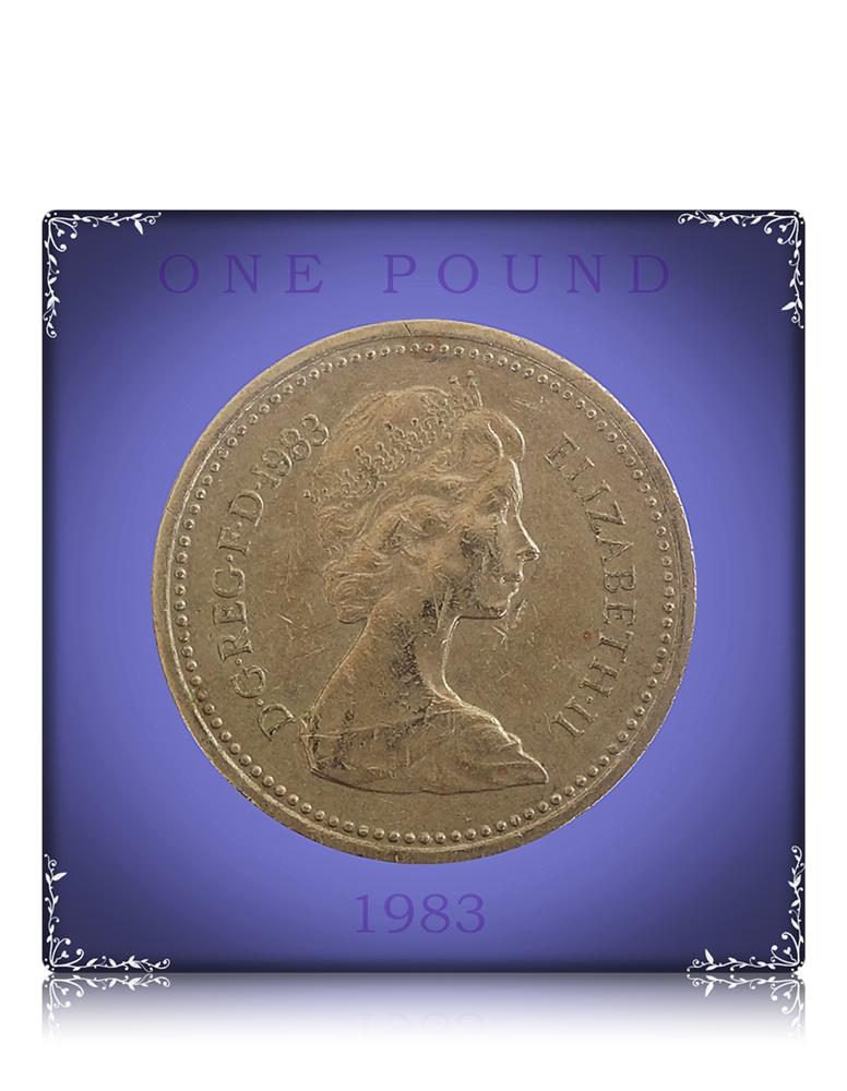 1983 1 Pound - Queen Elizabeth II United Kingdom Heraldic Emblems series  Nickel Brass Best Value - Worth Collecting