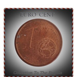 "2002  1 Cent Euro Mark ""A"" Germany Federal Republic Coin"