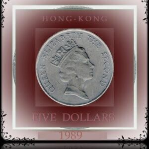 1989 5 Five Dollars - Hong Kong Coin