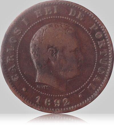 1892 10 Reis - Carlos I - Portugal
