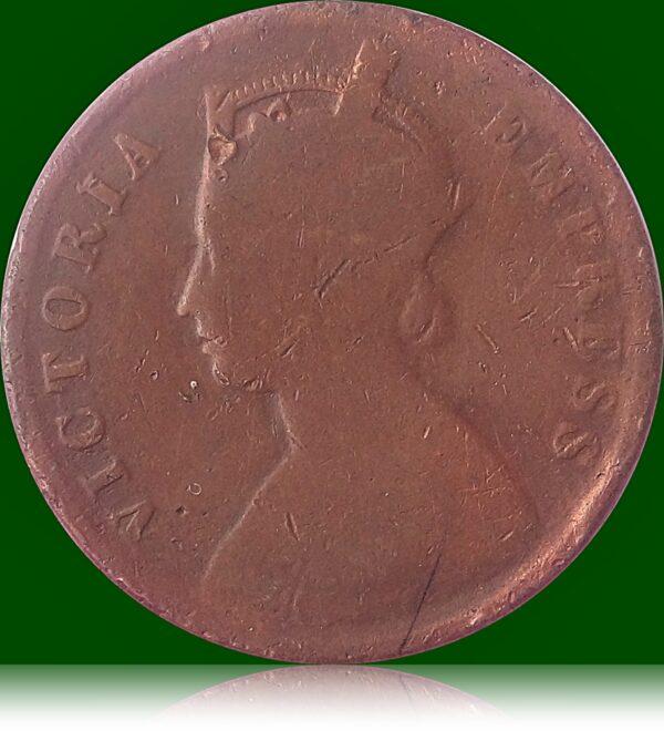1890 1/4 Quarter Anna Queen Victoria Empress
