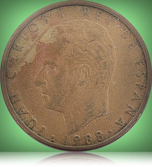 100 Pesetas - Juan Carlos I Big Head variant Aluminium-bronze Coin of Spain