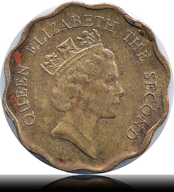 1988 20 Cents - Hong Kong Queen Elizabeth II
