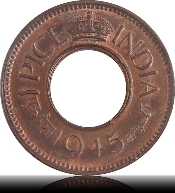 1945 1 Pice UNC Collection King George VI Hole Coin