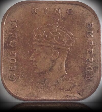 1943 1 CENT COIN KING GEORGE VI COMMISSIONERS OF CURRENCY MALAYA COIN
