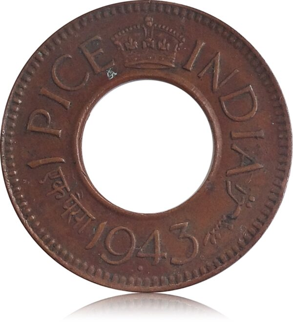 1943 1 Cent George VI Issued by Malaya, Malaysia Coin O