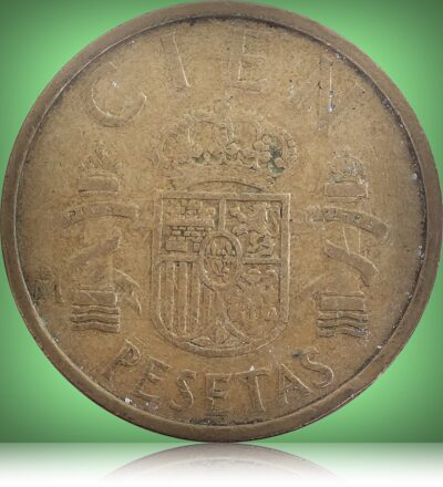 100 Pesetas - Juan Carlos I Aluminium-Bronze Coin of Spain