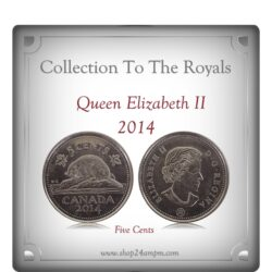 2014 5 Cents Queen Elizabeth II Canadian Nickel Coin Class