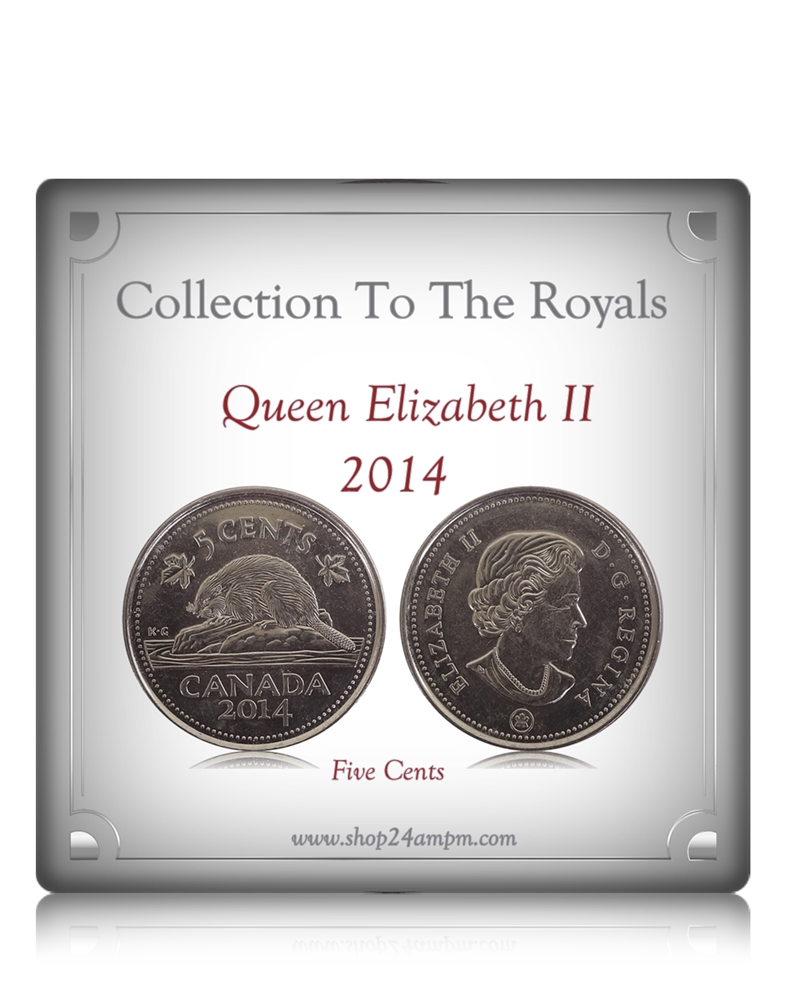 2014 5 Cents Queen Elizabeth II Canadian Nickel Coin Class - Worth  Collecting