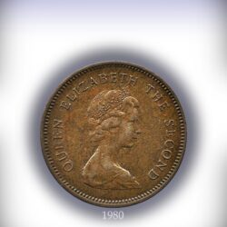 1980 50 Cents Queen Elizabeth II