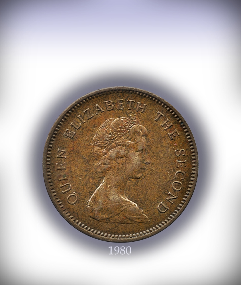 1980 50 Cents Queen Elizabeth The Second Hong - Kong Best Buy