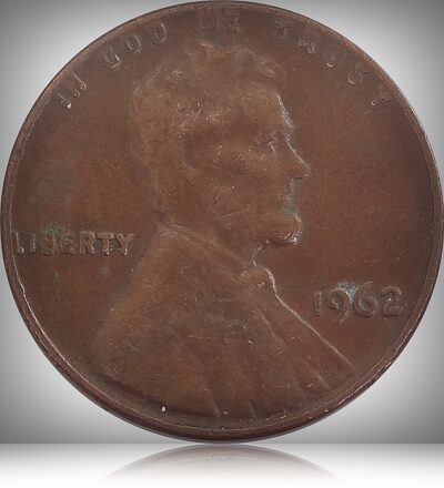 1962 One Cent Coin Lincoln Memorial United States