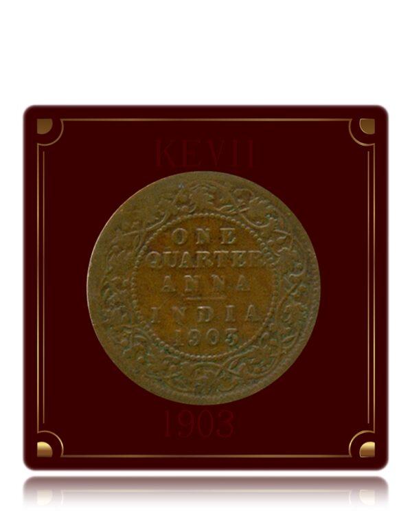 1903 1/4 Anna Coin