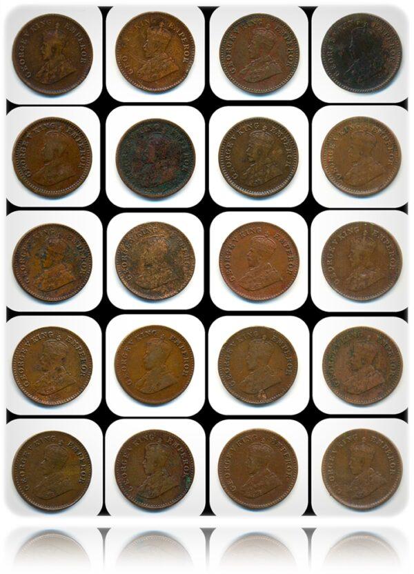 1 Pie British India King George - Best Buy Value Worth 20 Coins