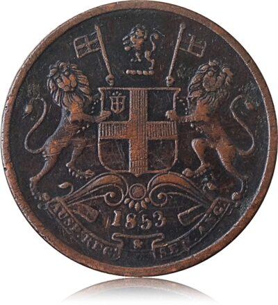 1853 HALF PICE O