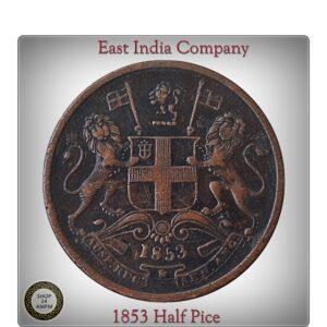 1853 Half Pice East India Company