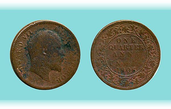 1906 1/4 Anna