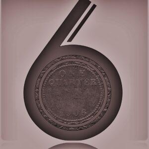1906 Edward VII One Quarter Anna Bronze Coin