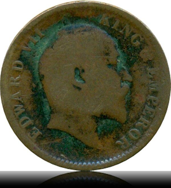 1906 Edward VII Quarter Anna Calcutta Mint O