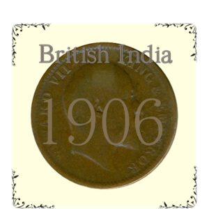 1906 Quarter anna coin