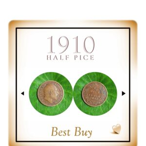 1910 1/2 Half Pice Coin King Edward VII - Value Best Buy