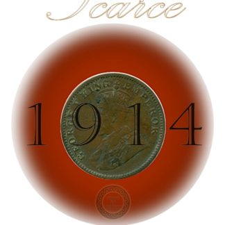 1914 1/4 Quarter Anna British India George V Calcutta Mint