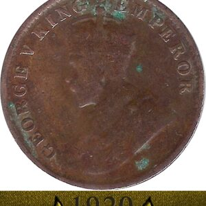 1920 One Quarter Anna George V King Emperor Calcutta Mint