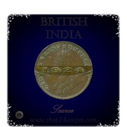 1924 1/4 Quarter Anna British India King George V