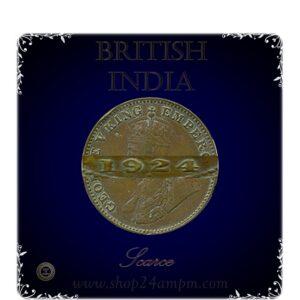 1924 1/4 Quarter Anna British India King George V