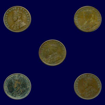 1925 1930 1931 1935 1/4 Quarter Ana King George V O