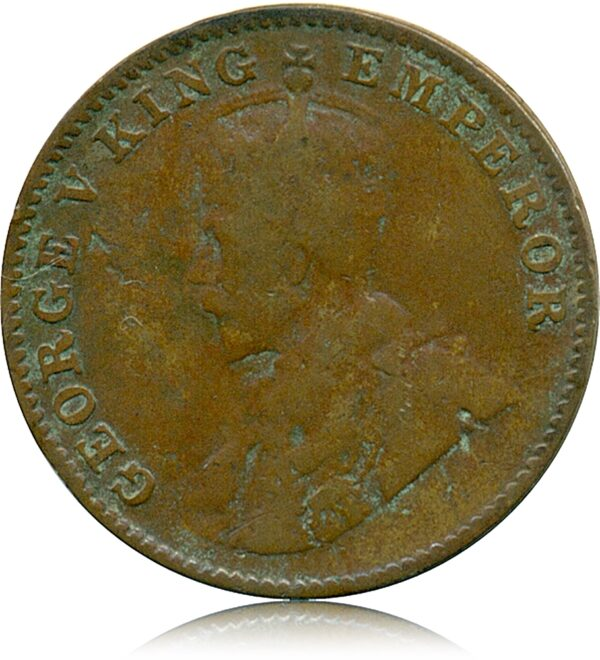 1926 George V One Quarter Anna Calcutta Mint O