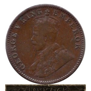 1927 One Quarter Anna Calcutta Mint George V King Emperor