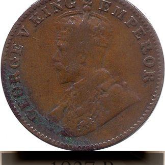 1927 One Quarter Anna George V King Emperor Bombay Mint