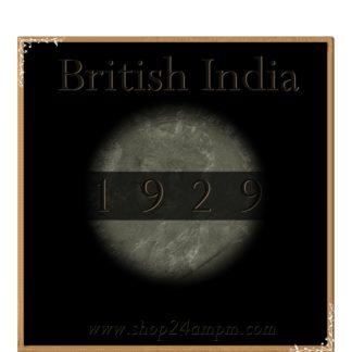 1929 One Quarter Anna Calcutta Mint George V King Emperor Coin Value