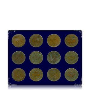 1935 1/4 Quarter Anna British India King George V