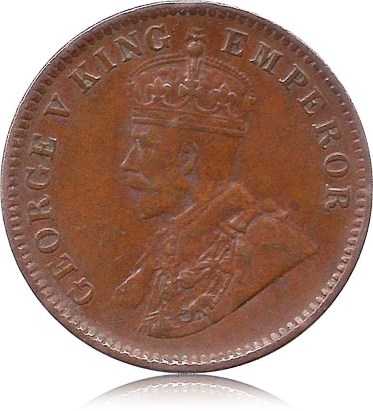 1936 One Quarter Anna George V King Emperor Calcutta Mint coin O