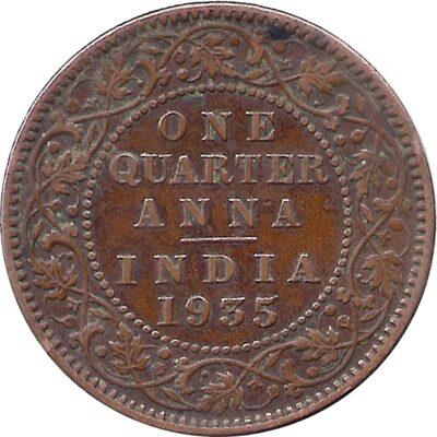 1936 Quarter Anna King copper coin value best buy R