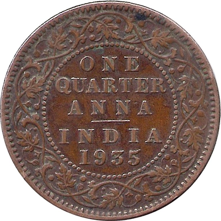 1936 Quarter Anna King copper coin value best buy R