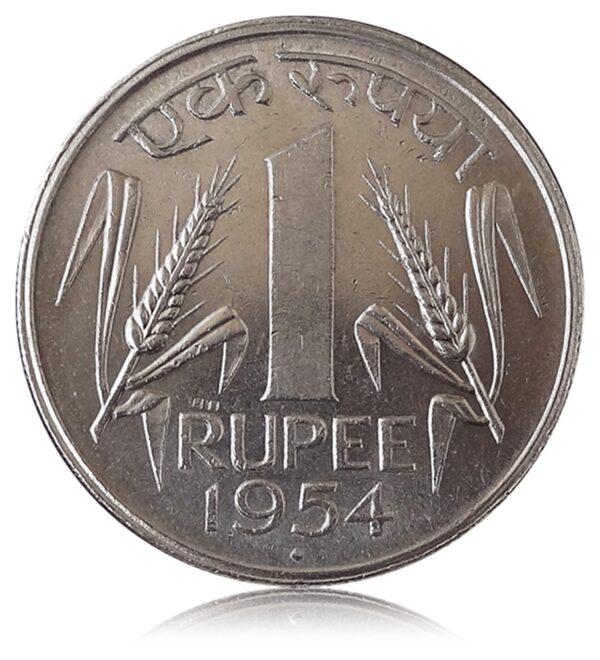 1954 1 Rupee Ek Rupiya - Class Coin - O