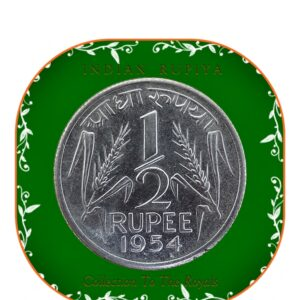 1954 Half Rupiya Rupee India - Best Value - Collection