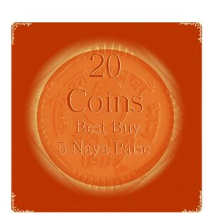 1963 5 Naye Paise Republic India Copper Nickel Coin – UGET – 20 Coins