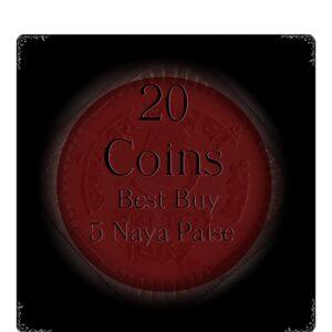 1957 5 Paise 20 coins