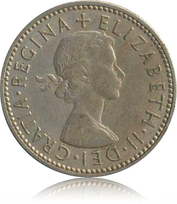 1961 One Shilling Coin Queen Elizabeth II O