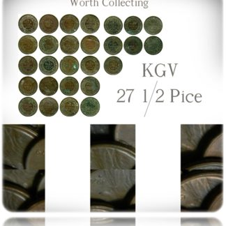 1/2 Half Pice Coins Mixed Lot British India King George V