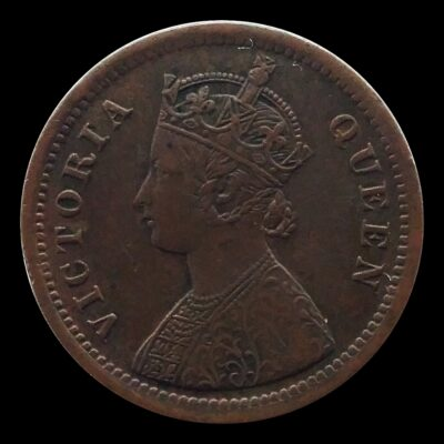 1862  1/2 Half Pice British India Queen Victoria Empress  O