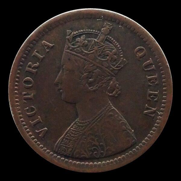 1862 1/2 Half Pice British India Queen Victoria Empress O