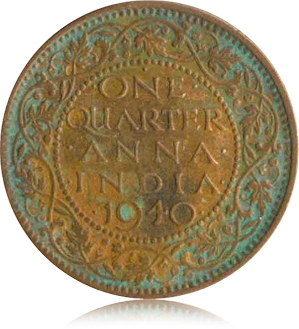 1940 1/4 Quarter Anna British India King George VI R