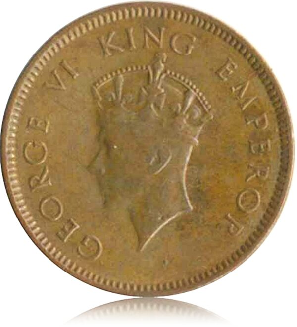 1939 1/4 Quarter Anna British India King George VI O