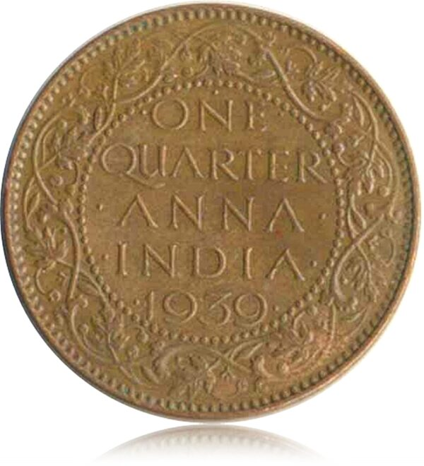 1939 1/4 Quarter Anna British India King George VI R