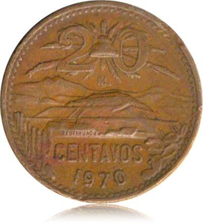 1970 Estados Unidos Mexicanos 20 Centavos R